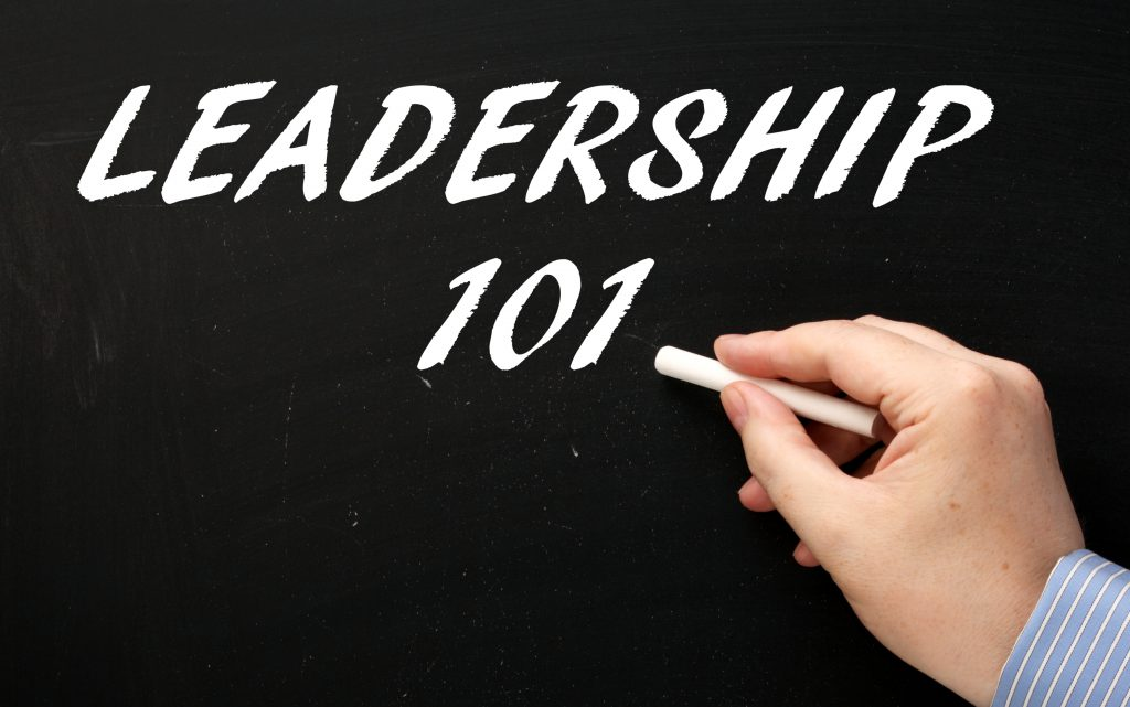 leadership 101 written on chalkboard